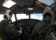Airplane Picture - The cockpit of a E-2C Hawkeye of United States Navy Carrier Airborne Early Warning Squadron 115