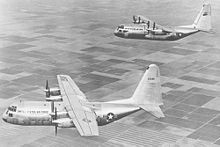Airplane Picture - The two YC-130 prototypes; the blunt nose was replaced with radar on later production models.