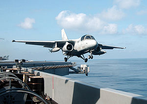 Warbird Picture - An S-3B Viking launches from the catapult aboard USS Abraham Lincoln.