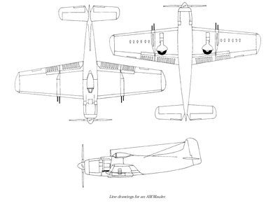 Airplane Picture - Line drawings for an AM-1.