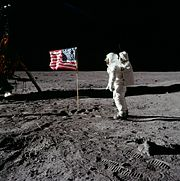 Aircraft Picture - Buzz Aldrin on the moon, 1969
