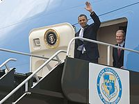 Aircraft Picture - President Obama arrives at Kennedy Space Center in 2010 to present his space policy