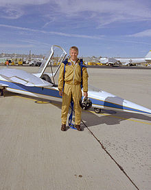 Aircraft Picture - The AD-1 and pilot Richard E. Gray