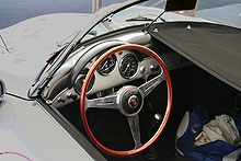 Aircraft Picture - A Nardi steering wheel in a Porsche 356 Speedster.