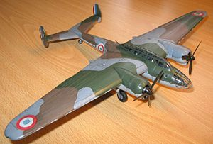 Airplane Picture - Amiot 351 1/72 scale model by Johan De Wolf