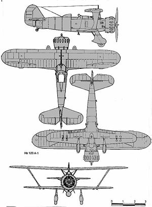 Airplane Picture - Henschel Hs 123 airplane drawing