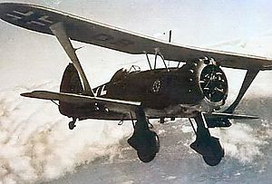 Airplane Picture - Henschel Hs 123A showing the Infanterie-Sturmabzeichen c.1942-1943