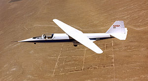 Airplane Picture - The AD-1 with its wing at a moderate angle