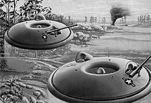 Airplane Picture - US Army Avrocars depicted as