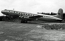 Airplane Picture - Tudor 2 of Air Charter Limited at London Stansted Airport in 1955