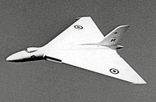 Airplane Picture - The prototype Vulcan VX770 in 1954 when powered by Sapphires but retaining the original