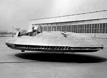 Airplane Picture - Avrocar 59-4975 after modifications, was tested without the canopies and incorporating the perimeter