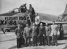 Airplane Picture - The engineering team stands after Flight 100.
