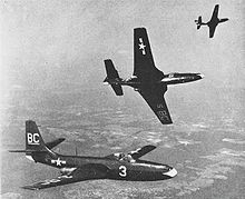 Airplane Picture - Three FH-1 Phantoms of VMF-122 in 1949