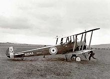 Airplane Picture - This Avro 504K was the first aeroplane in Iceland, taken there in 1919