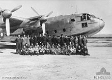 Airplane Picture - Members of the Governor-General's Flight in front of the Vice-Regal Avro York aircraft in June 1945