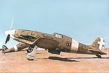 Airplane Picture - An early Macchi C.202 (note lack of radio mast) of 81� Squadriglia, 6� Gruppo, 1� Stormo CT; this photo appears to have been taken in Libya.