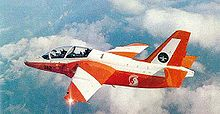 Airplane Picture - RSAF 130Sqn's S.211 in flight circa 1988, 382 was written off after an accident in 2006
