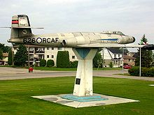 Airplane Picture - A CF-100 is on permanent display in North Bay's Lee Park