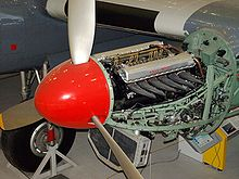 Airplane Picture - Restored Rolls-Royce Merlin engine of G-ANTK
