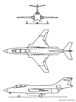 Airplane Picture - Line drawings for the F-101B.