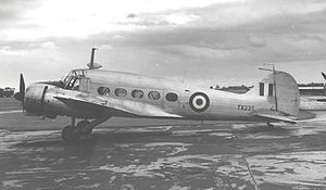 Warbird Picture - RAF Avro Anson C.19 at Manchester in 1955