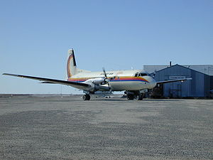 Warbird Picture - Avro 748 (C-GBFA) registered to First Air at Cambridge Bay Airport, Nunavut, Canada.