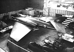 Warbird Picture - CF-103 mock-up at the Avro company