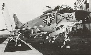 Warbird Picture - A F3H-2 Demon armed with missiles.