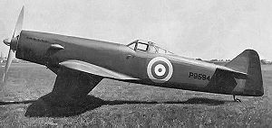 Warbird Picture - Martin-Baker MB2 during testing