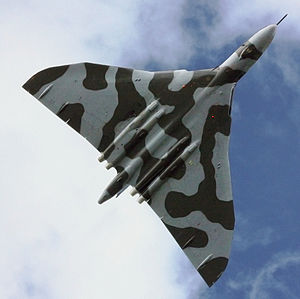 Warbird Picture - XH558 performs its display at Cosford Airshow 2009.