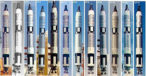 Airplane Picture - All Gemini Launches from GT-1 through GT-12.