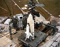 Airplane Picture - STS-1 on the launchpad (1981)