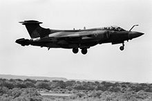 Airplane Picture - A 12 Sqn Buccaneer S.2B in 1981.