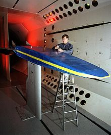 Airplane Picture - X-30 model in a wind tunnel