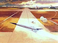 Airplane Picture - 1986 artist's concept of the X-30 on liftoff.