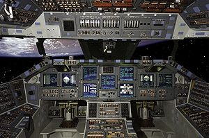 Airplane Picture - During STS-101, Atlantis was the first shuttle to fly with a glass cockpit.