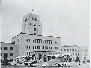 Warbird Picture - B2M (on the left) in front of Tokyo Institute of Technology