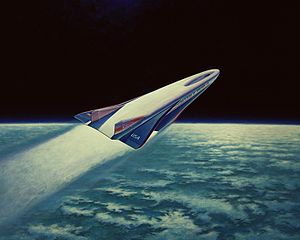 Warbird Picture - Artist's Concept of the X-30 entering orbit