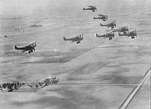 Airplane Picture - A formation of DH-4s in flight.