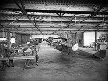 Airplane Picture - Interior of De Havilland aircraft factory, Rongotai, Wellington, 1939 or 1940