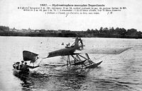 Airplane Picture - Later adaptions and versions of the Deperdussin Monocoque line included a seaplane, seen here.