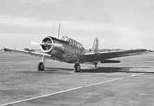 Airplane Picture - Vultee BT-13 on runway at Minter Field, California, 1 March 1943.