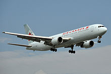 Airplane Picture - A 767-300ER of Air Canada, one of the earliest transatlantic operators of the 767.