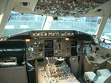 Airplane Picture - Two-crew cockpit of an AeroMexico Boeing 767-300ER