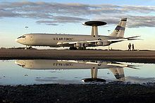 Airplane Picture - USAF E-3 Sentry prepared for flight at 4 Wing Cold Lake, Canada
