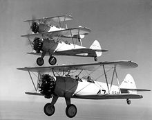 Airplane Picture - US Navy NS-1s of the NAS Pensacola Flight School, 1936.