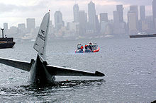 Airplane Picture - Boeing 307 (NC 19903) in Elliott Bay, Seattle, March 28, 2002