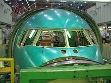 Airplane Picture - Boeing 767 Section 41 fuselage nose assembly