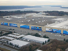 Airplane Picture - Boeing's Everett Factory, site of 767 manufacture along with the 747, 777, and 787.